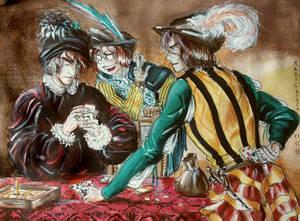 Scoundrel players ( Harlock, Tochiro, Warrius )