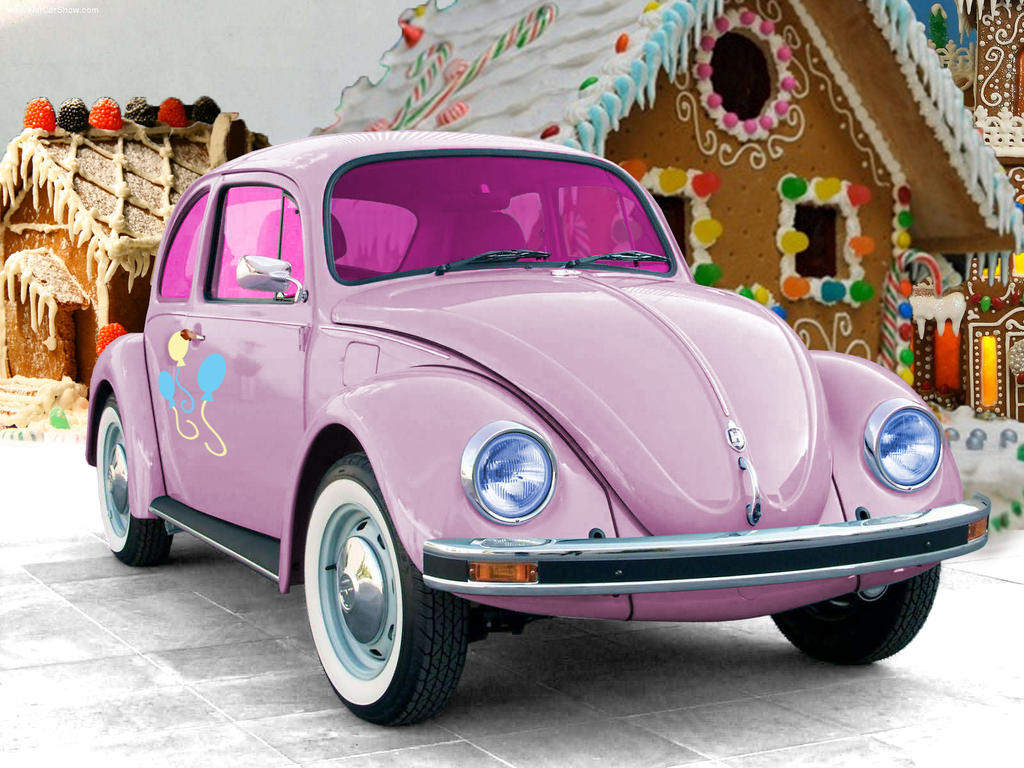 pink punch buggy car
