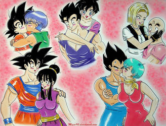 Dragon Ball couples by migio90