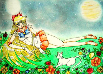 Sailor Venus and Artemis