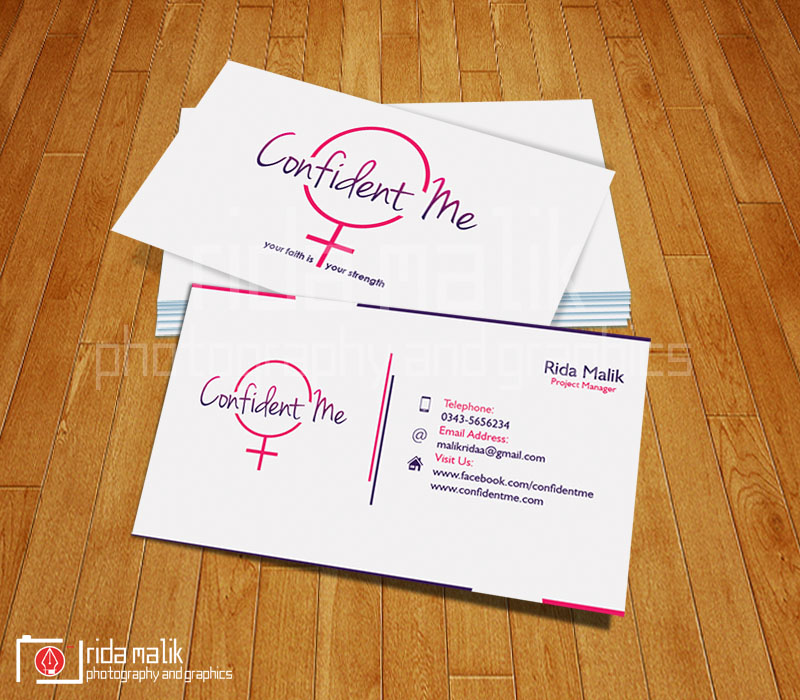 Business Card Design - Confident Me Campaign by rida-m on DeviantArt