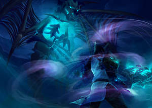 Death Knight and Frost Wyrm