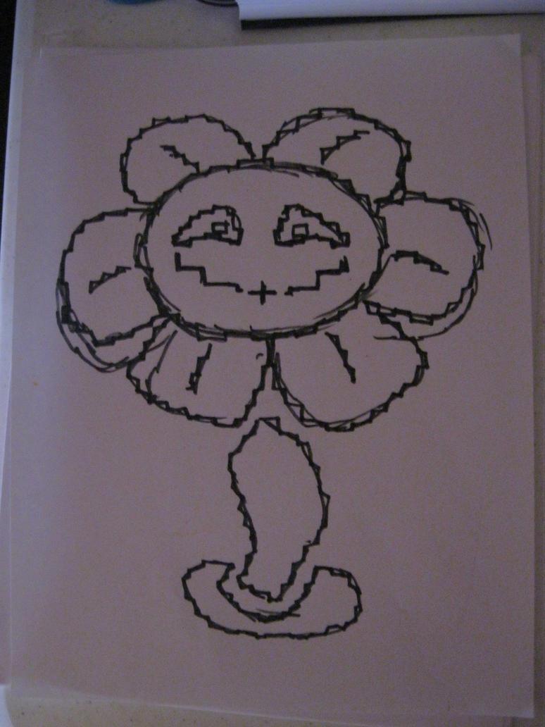 Quick Flowey Sketch by LightPhyre