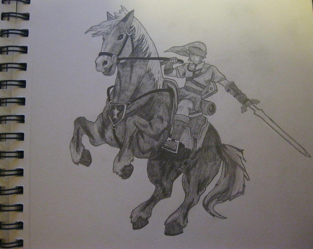 Link and Epona by LightPhyre