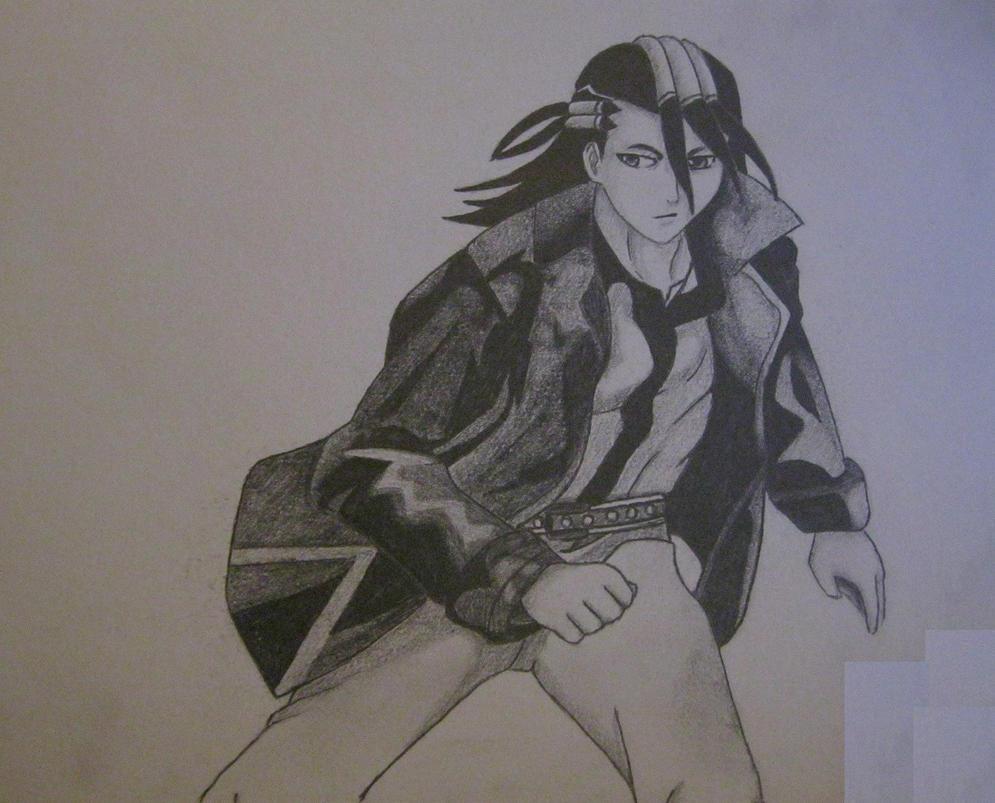 Byakuya Kuchiki Sketch by LightPhyre