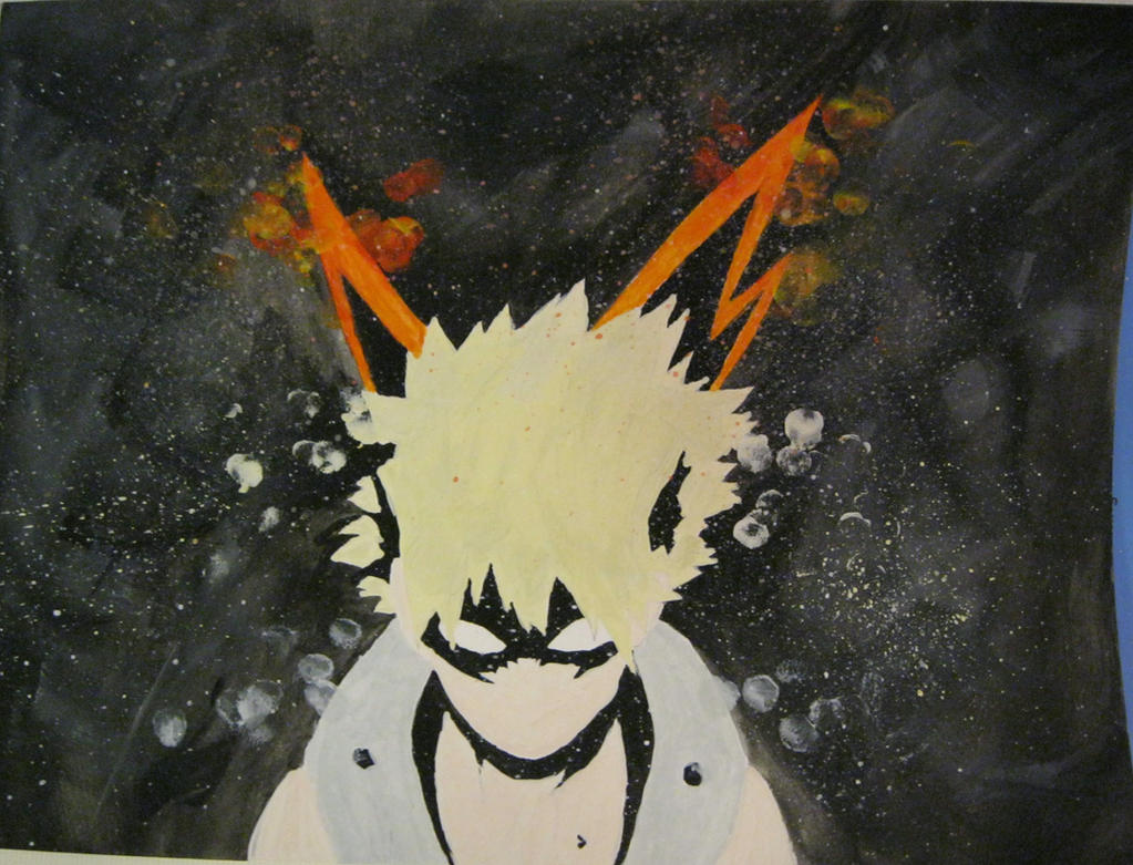 Katsuki Bakugou Watercolor, My Hero Academia by LightPhyre