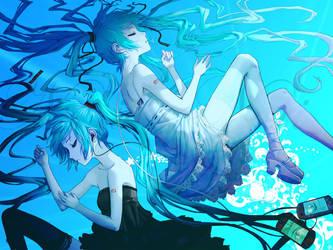 Miku Hatsune-Dark Twin Sleeps. by XxLoverDeepDownxX