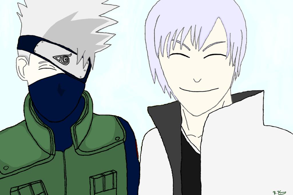 [SMILE BATTLE] Hatake Kakashi and Ichimaru Gin :) by BKASSASSIN
