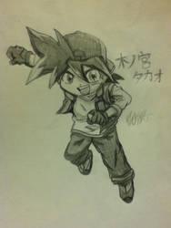 Kinomiya Takao sketch (v force) by gingaXginga