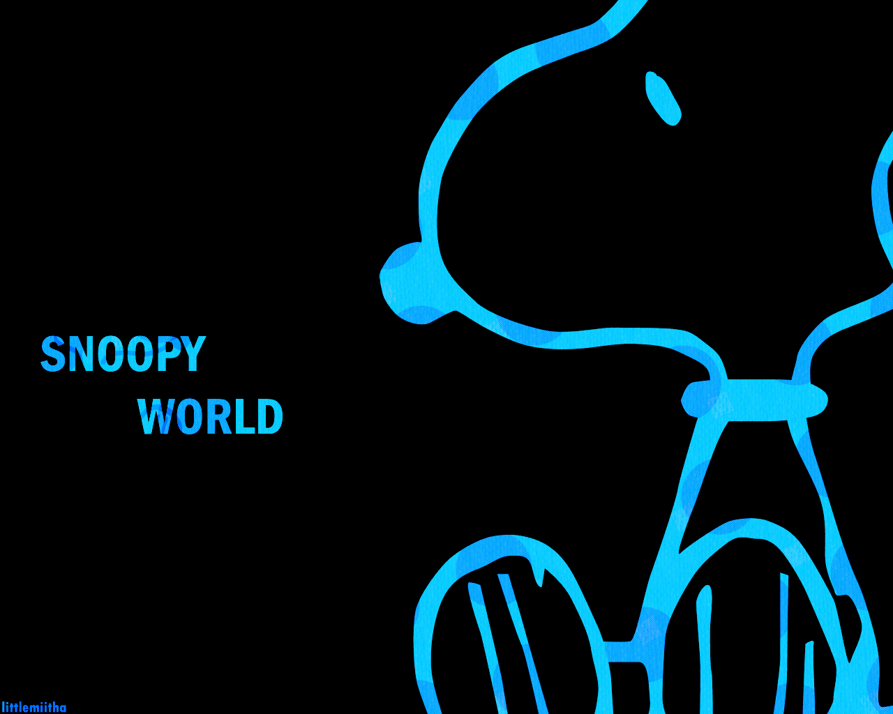 Snoopy Free Wallpaper Black | Collection 12+ Wallpapers