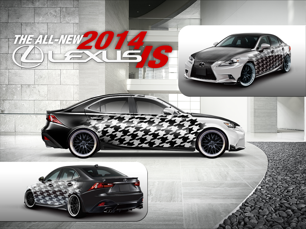 Lexus IS Hounds Tooth Design by PeppstaR