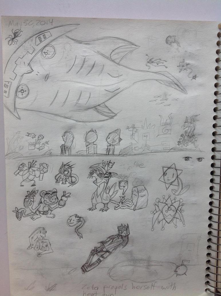 Sketchbook Part 2 by LimeGreenFlix
