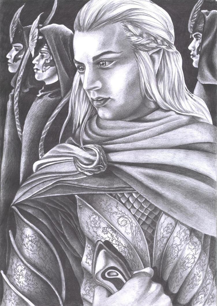 Haldir foreseeing by Tindarien
