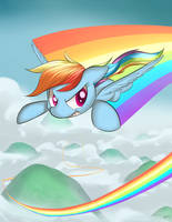 RainbowDash print by LoosePopcorn