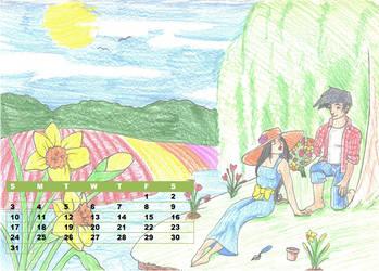 JCA 2013 Calendar March by fan-of-a-thousand