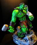 Planet Hulk sculpture painted