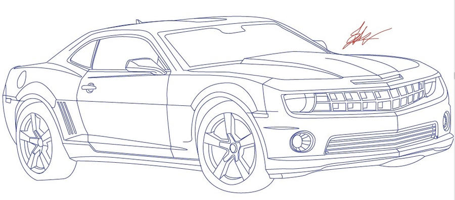 Chevy Line Draw by AlleyCat-ZD on DeviantArt