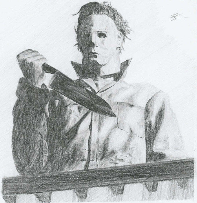 Michael myers by ultimate saiyan on deviantart for Michael myers coloring pages