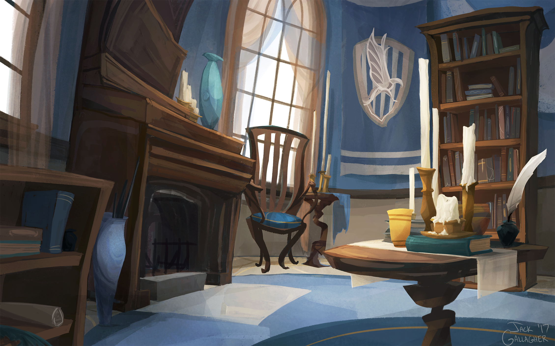 Ravenclaw Common Room By Tofuslaw On Deviantart