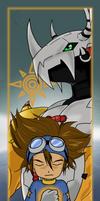 Tai and WarGreymon