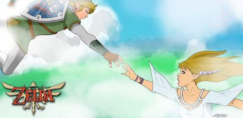 Link and Zelda falling for eachother