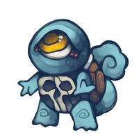 skull shell squirtle by sinner-moon