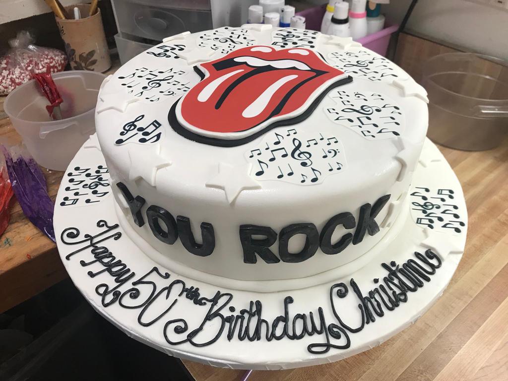 rolling stones taart Rolling Stones Fondant Cake by Alexandra67 on DeviantArt rolling stones taart