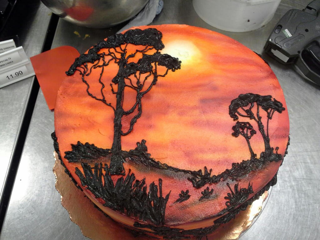 Lion King Cake By GuppyCake On DeviantArt - Lion King Wedding Cake