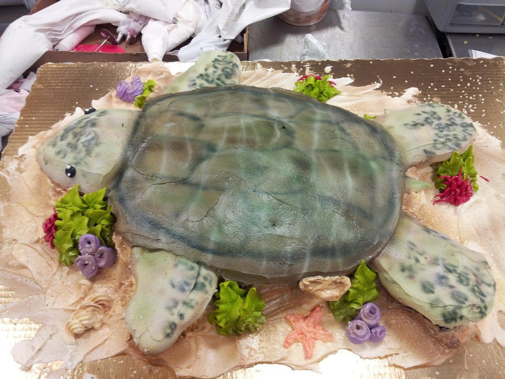 Turtle cupcake cake by GuppyCake on DeviantArt