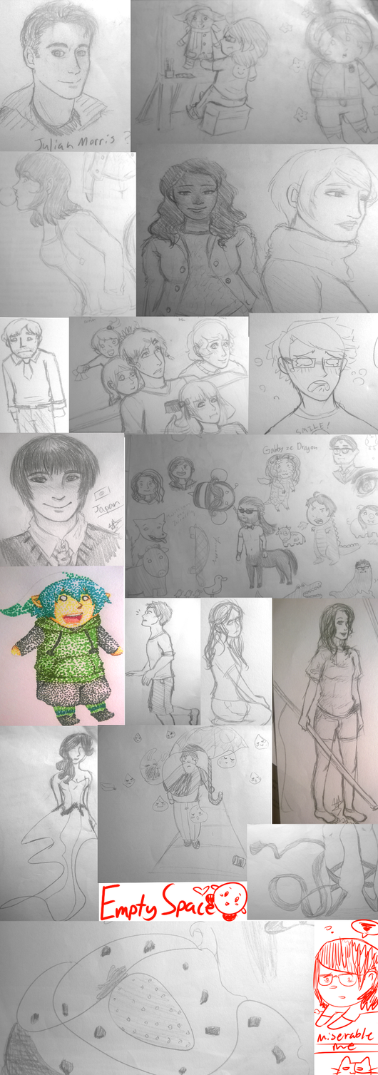 SUMMER COLLEGE DOODLES by ShadowKnightSociety