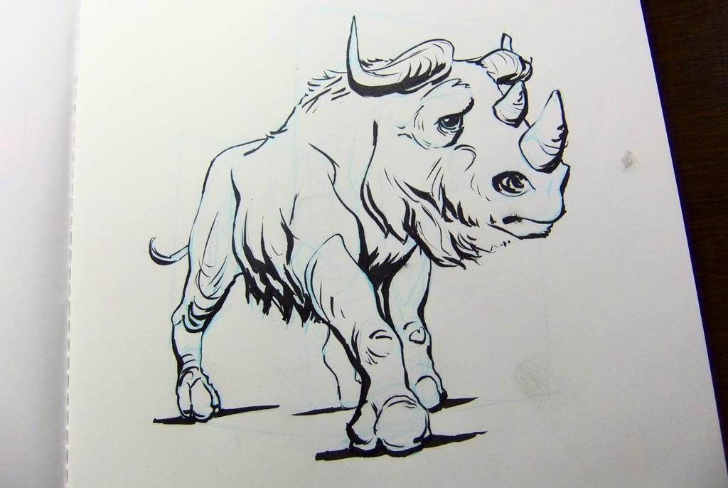 Inktober2016 day 14 - A wild rhinotakin... by Clean3d