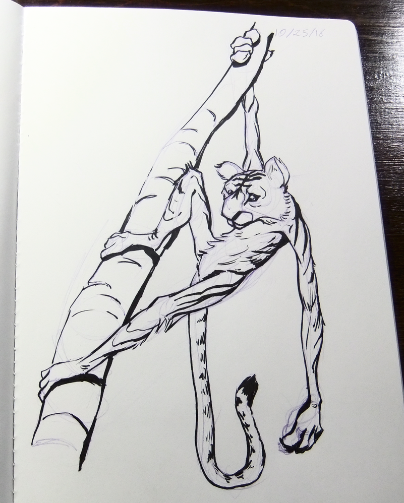 Inktober2016 day 25: Tiger-monkey by Clean3d