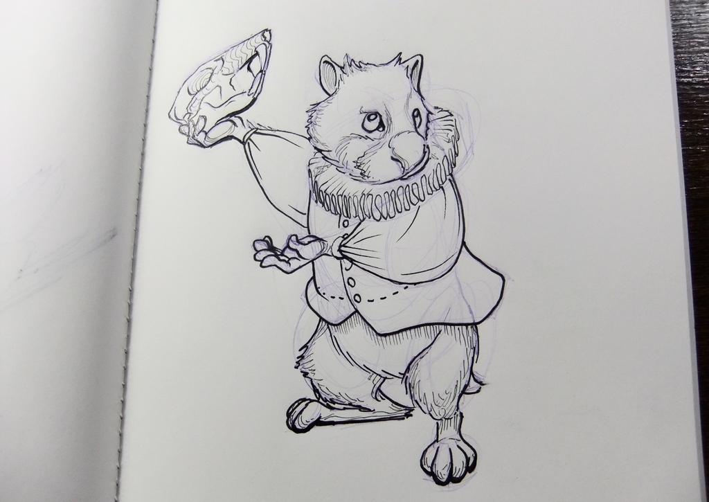 Inktober2016 day 28: Hamsterlet by Clean3d