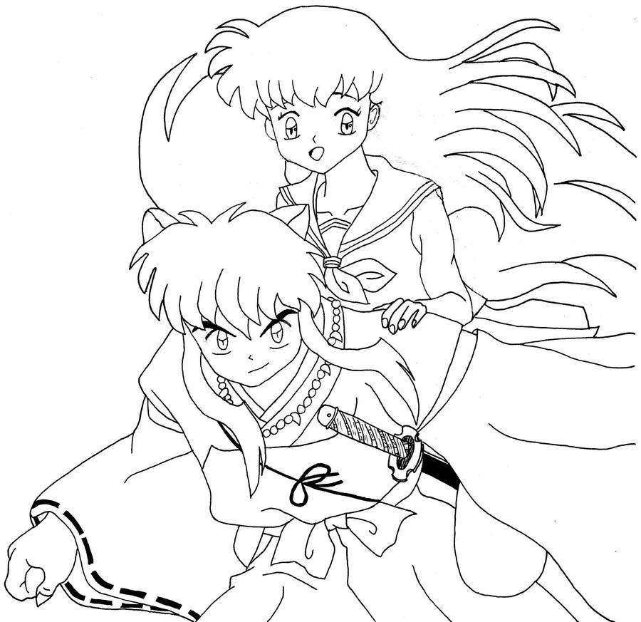 inuyasha and kagome by inusaiga on deviantart