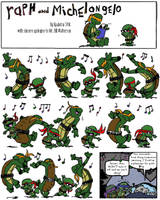 Turtle and Hobbes by Kya-Kyabetsu