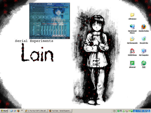 Current Desktop Lain by xLorrainex