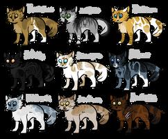 9 Adopts - CLOSE by Pheasant-Fox