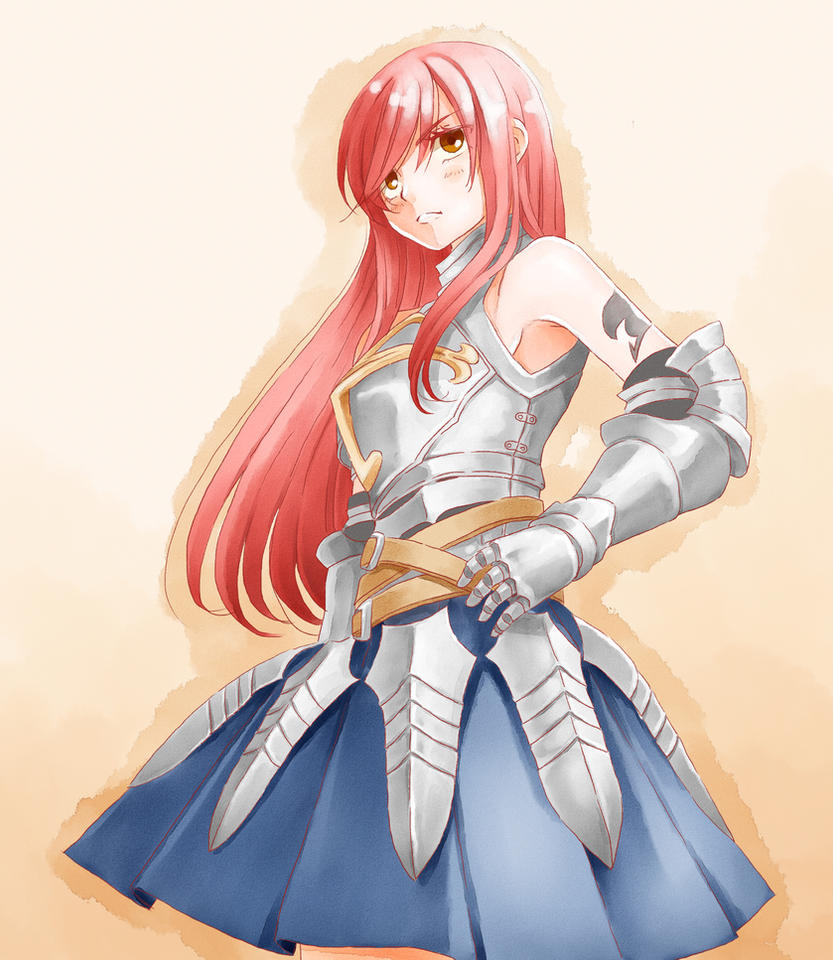 Fairy Tail Coloring: Erza the Seventh by ta-aro on DeviantArt