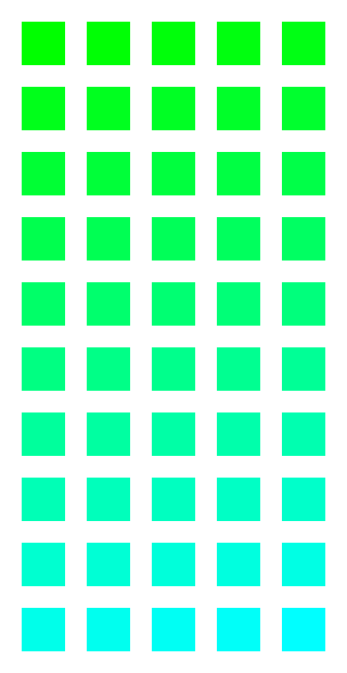 COLORS 08.3: From green to cyan by victorioanthony