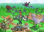 A horde of seviper appeared