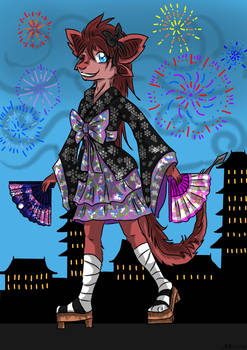 Ruby japanese dress