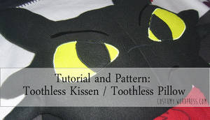 Super sweet Toothless-Pillow Pattern