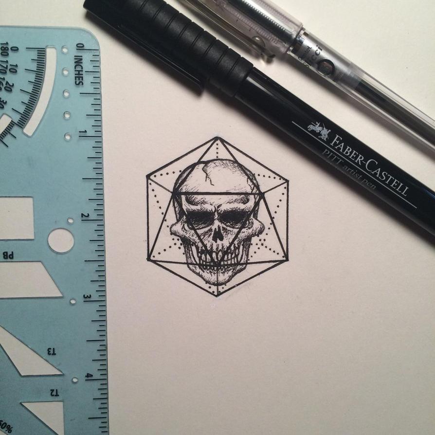 Geometric Skull by pottymouthgrl