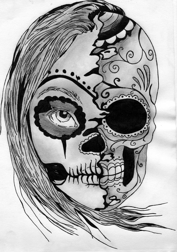 mexican skull by kyuba design on deviantart. Black Bedroom Furniture Sets. Home Design Ideas