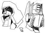 TFA Megatron and Optimus Prime