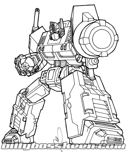 Optimus Prime By Billybosskeen On Deviantart Optimus Prime Coloring Pages