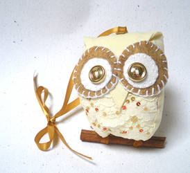 Little gold owl