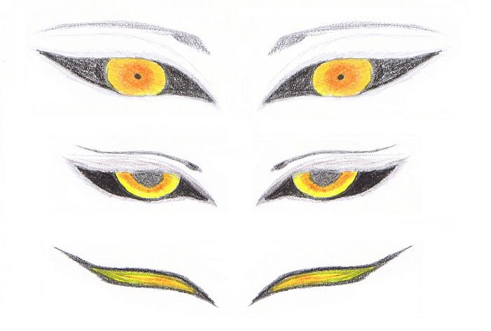 gold eyes by YueShirosaki