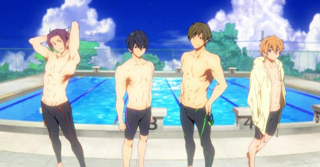 Swimming, by Animation DO and Kyoto Animation by YueShirosaki