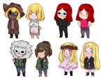 Horror OC: Chibis Killers Girls by MissMonahell